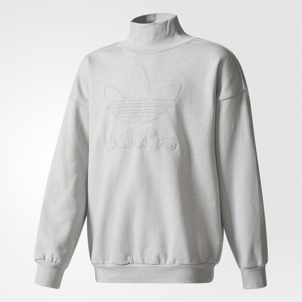 new product b9dcf 726a5 Trefoil French Terry Crew Sweatshirt Grey Two BQ3958