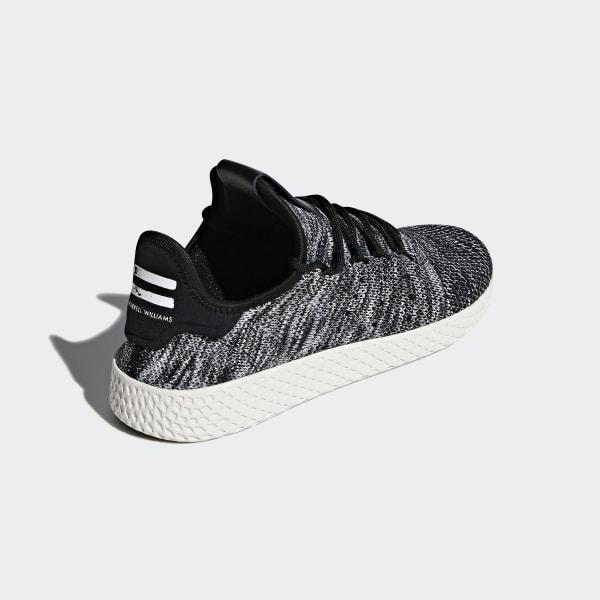 96422917a7d6e Pharrell Williams Tennis Hu Primeknit Shoes Core Black Ftwr White CQ2630