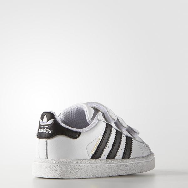 Superstar Foundation Comfort Straps Shoes Cloud White   Core Black   Cloud  White B23637 700627faf973b
