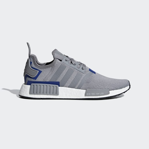 b650a8104f7b4 NMD R1 Shoes Grey Three   Grey Three   Active Blue BD7742