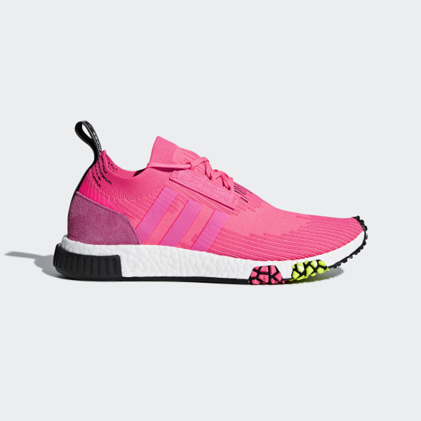 online retailer 19656 70aec Chaussure NMD Racer Primeknit Solar Pink   Solar Pink   Core Black CQ2442