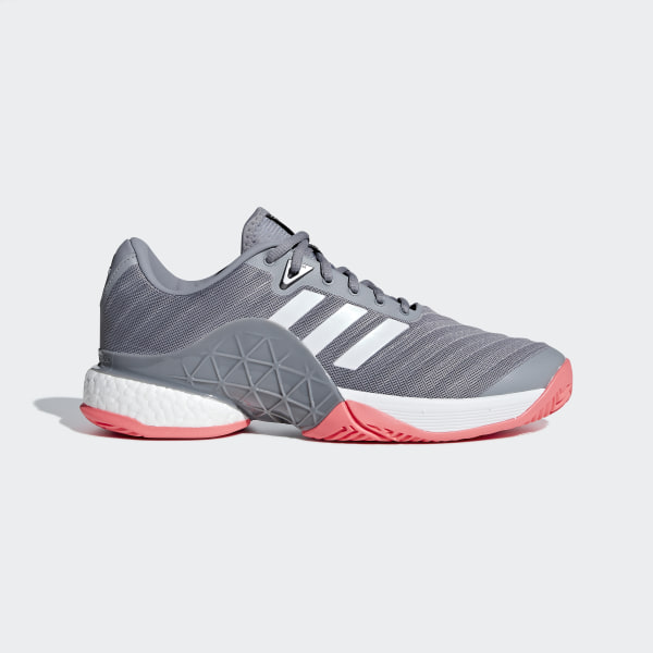 Barricade 2018 Boost Shoes Cloud White   Matte Silver   Scarlet AH2094 dd881e0933c8d