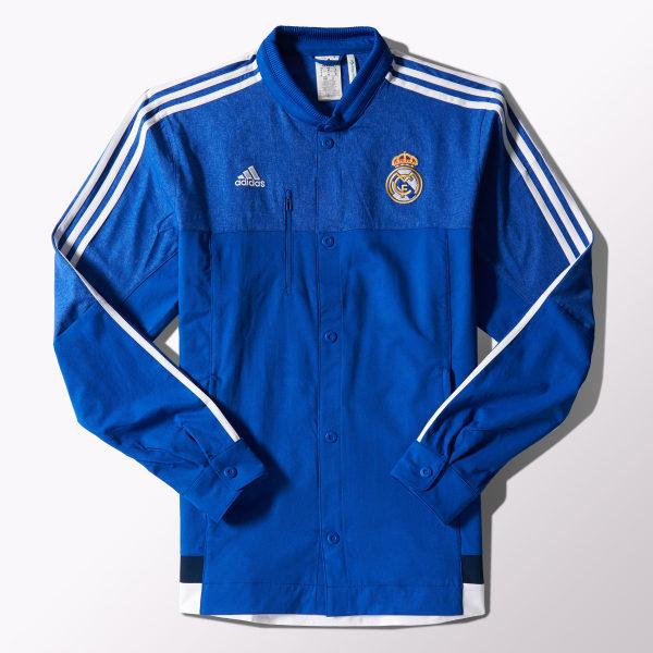 4a48e0794bec5 adidas Chaqueta de Fútbol Anthem Real Madrid - Negro