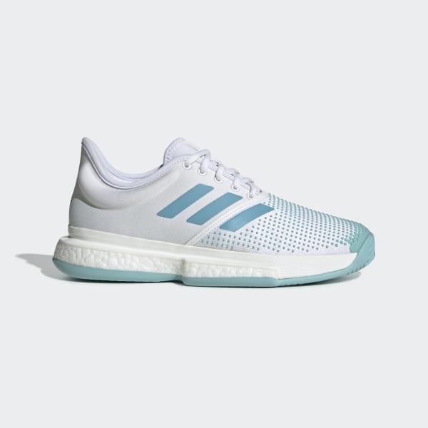 finest selection a7d16 1536f SoleCourt Boost Parley Shoes White  Vapour Blue  Blue Spirit G26301