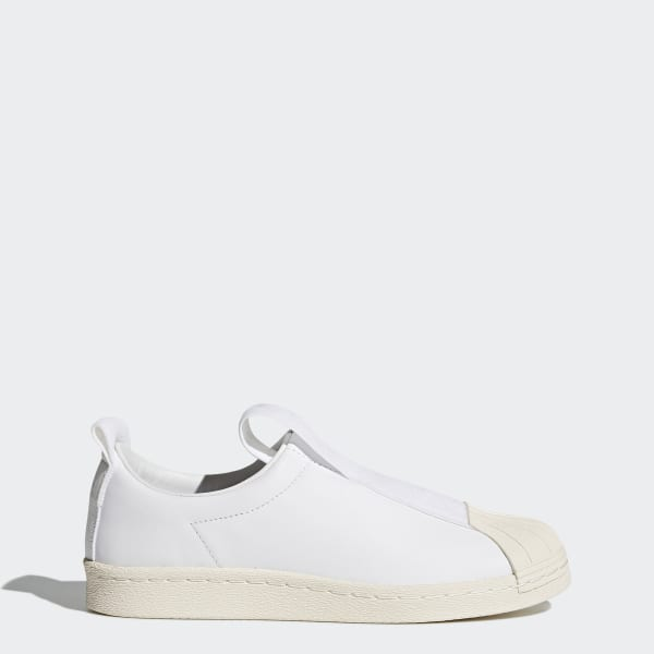 adidas superstar slip on leather