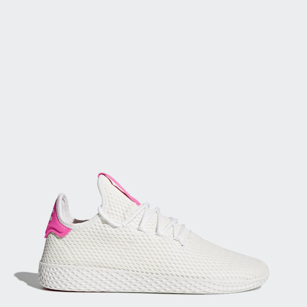 09e6d2eaa Pharrell Williams Tennis Hu Shoes Cloud White   Cloud White   Semi Solar  Pink BY8714
