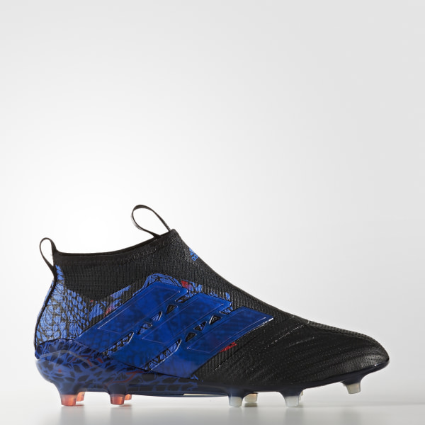 new york f5c13 9214d ACE 17+ Purecontrol UCL Dragon Firm Ground Cleats Core Black  Core Black   Blue