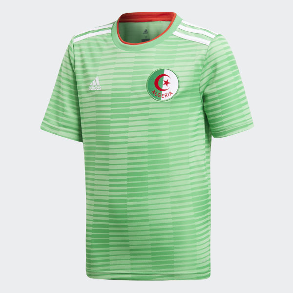 Camiseta segunda equipación Argelia Semi Flash Green White Red CF4037 5e1ebe3ad1e4a