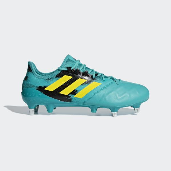 6b1e08b71826 Kakari Light Soft Ground Boots Hi-Res Aqua   Shock Yellow   Core Black  AC7685