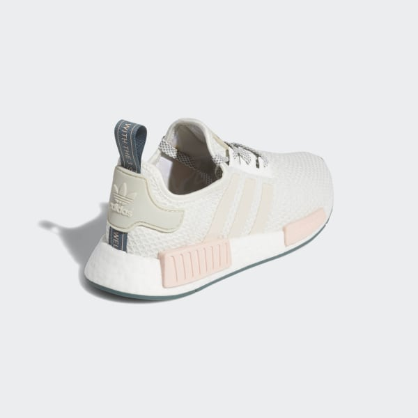 f5d38d97110c8 NMD R1 Shoes Running White   Talc   Icey Pink D97232