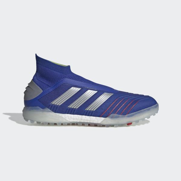 Botines Predator Tango 19+ Césped Artificial Bold Blue   Silver Met.    Football Blue a983bea8ff484