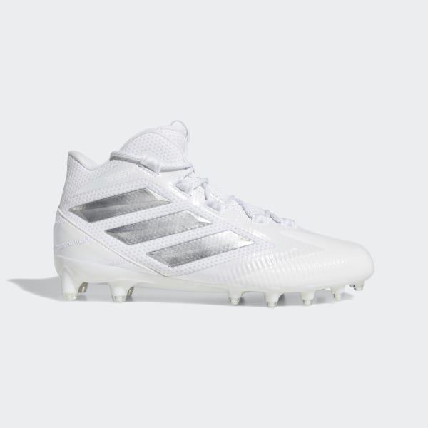 c5f70dcb0 Freak Carbon Mid Cleats Cloud White   Silver Metallic   Clear Grey EE7133