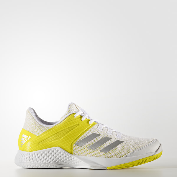 reputable site f447a c74c9 Tenis adizero club Mujer FTWR WHITESILVER MET.BRIGHT YELLOW BY1610