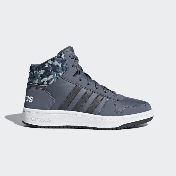 02bb2cfbdd6 Hoops 2.0 Mid Shoes Onix   Carbon   Running White B75752
