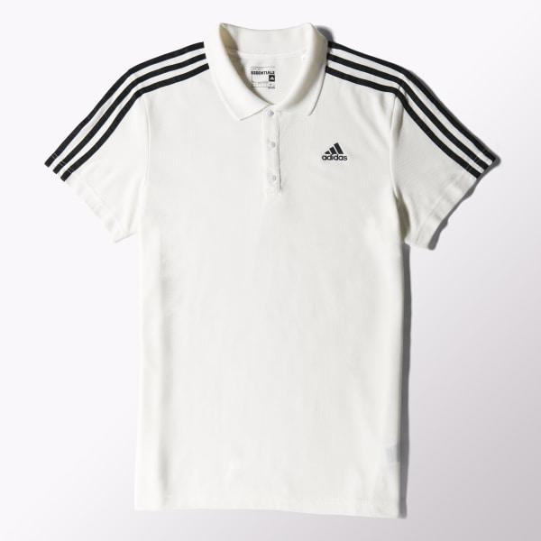 aa06fd4b6 Camiseta Polo 3S Essentials WHITE BLACK S17667