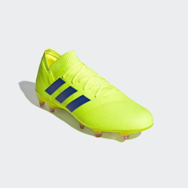 f33fddff763e Nemeziz 18.1 Firm Ground Boots Solar Yellow   Football Blue   Active Red  BB9426