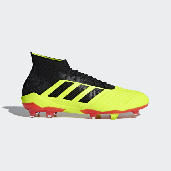 d2c3f725e2dd Predator 18.1 Firm Ground Boots Solar Yellow   Core Black   Solar Red DB2037