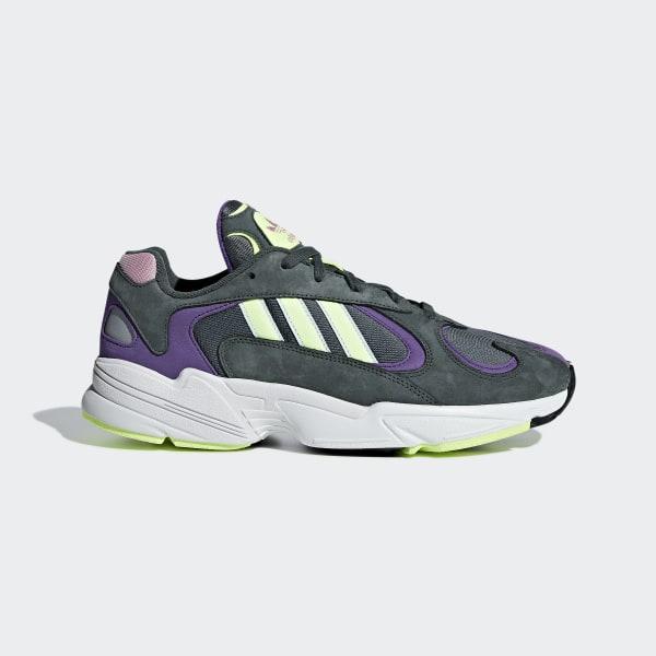 G27031 Adidas Originals Yung 1 Schuhe WeißGrauGrün