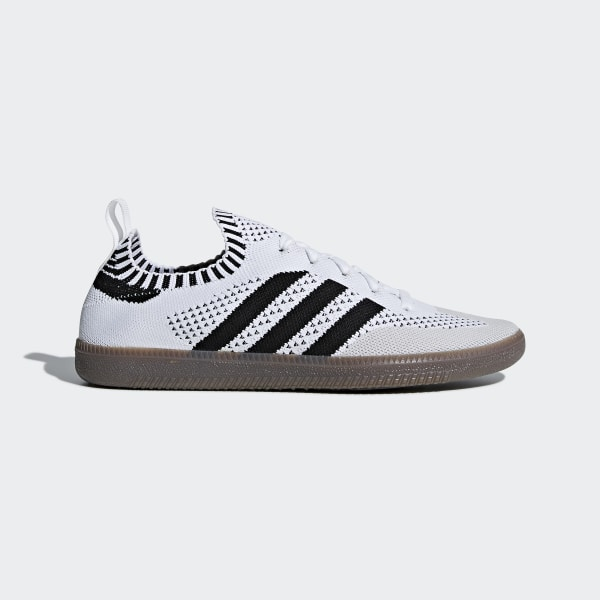 official photos 0e778 49fff Samba Sock Primeknit Shoes Cloud White   Core Black   Bluebird CQ2217