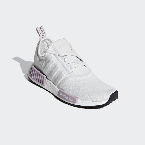 a31260a08aeaa NMD R1 Shoes Crystal White   Crystal White   Orchid Tint BD8024