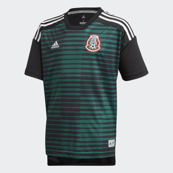 Jersey Prepartido Selección de México Local Niño 2018 COLLEGIATE  GREEN BLACK CF1545 f1ab13a5608b9