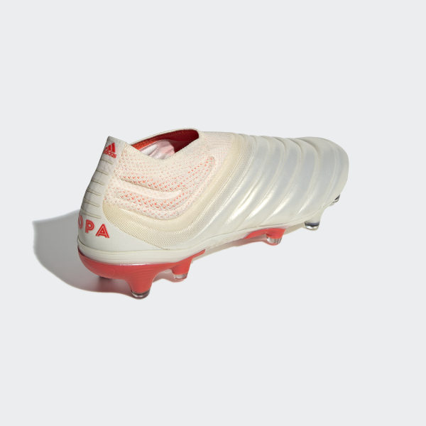 official photos c3163 c8b63 Copa 19+ Firm Ground Boots Off White   Solar Red   Off White BB9163