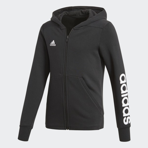 Essentials 3-Stripes Mid Hoodie Black White BP8580 a89a7cccb066