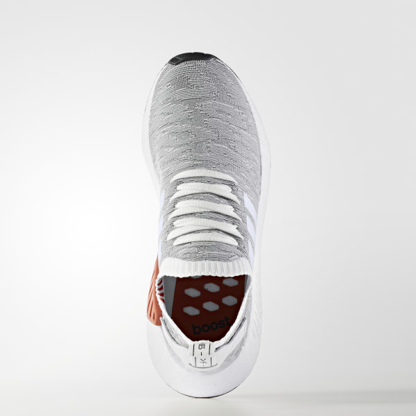 aa270f22a NMD R2 Primeknit Shoes Grey   Footwear White   Core Black BY9410