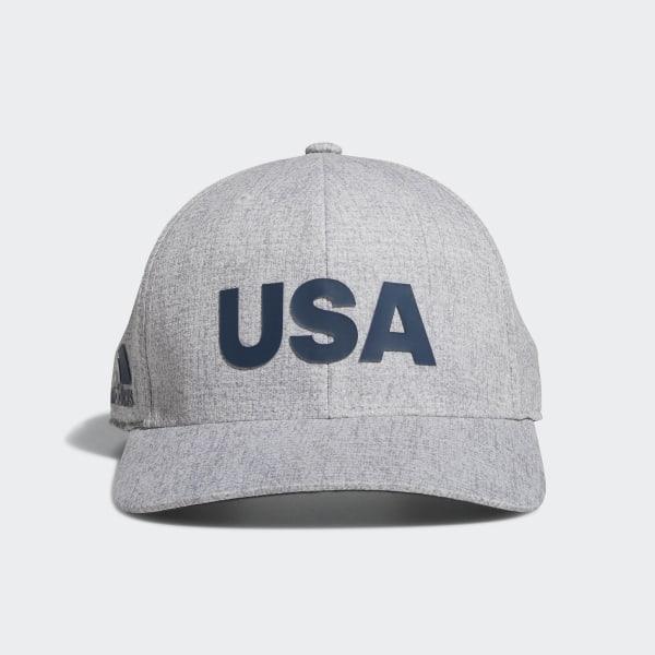 Heathered USA Hat Grey Heather DN4252 a04ab23b4f3
