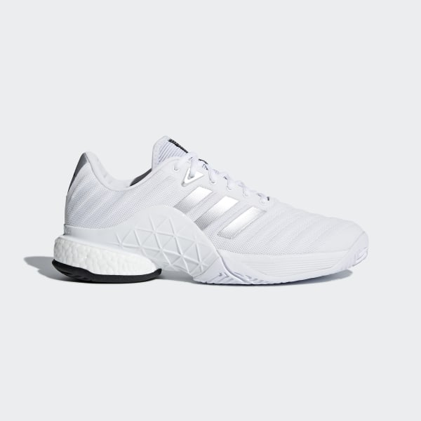 adidas Barricade 2018 Boost Shoes - White  cc14ee22bae92