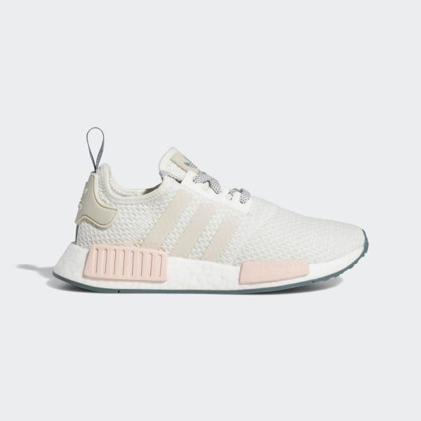 2fe130510 NMD R1 Shoes Running White   Talc   Icey Pink D97232