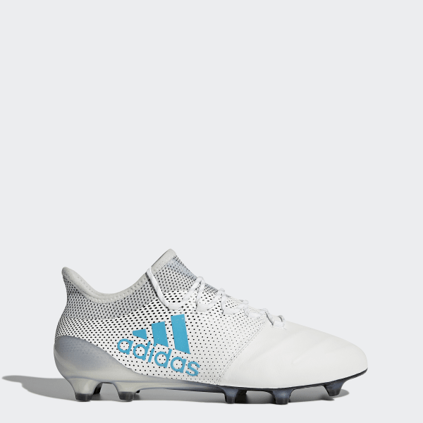 best cheap d93c4 8af5e X 17.1 Firm Ground Leather Cleats Cloud White  Energy Blue  Clear Grey  S82303