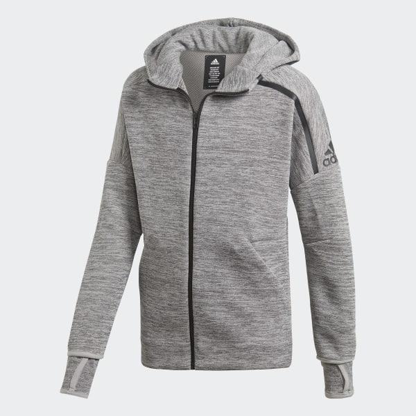Mikina s kapucňou adidas Z.N.E. Fast Release Grey Black DV1609 92737dbe19a
