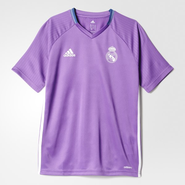 Camiseta de entrenamiento Real Madrid Ray Purple Crystal White AO3123 a81e0bafe8ae4