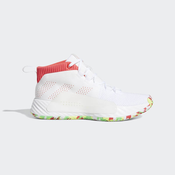 4bf3bce98cef09 Dame 5 Shoes Cloud White   Shock Red   Shock Lime BB8060