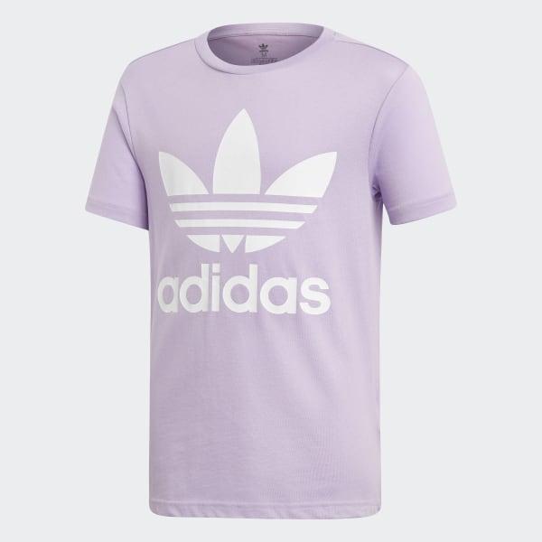 Camiseta Trefoil Purple Glow   White DV2908 7163da138b8f1