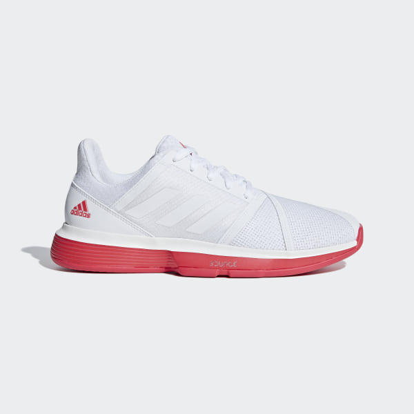 ec8b6802fe01c CourtJam Bounce Shoes Cloud White   Cloud White   Shock Red CG6325