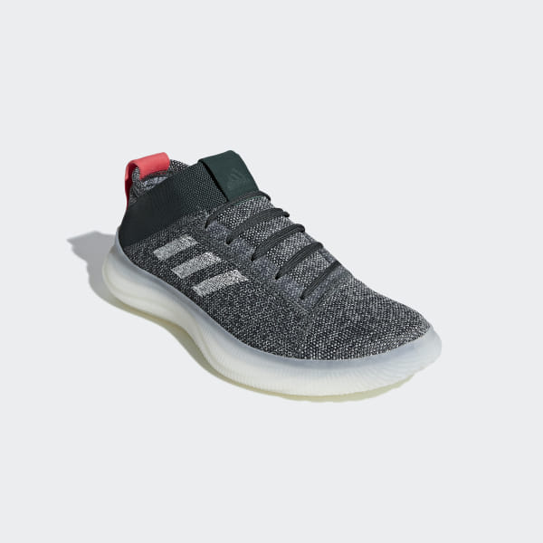 c7bf027106426 Pureboost Trainer Shoes Legend Ivy   Ash Silver   Shock Red BB7216