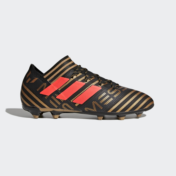 Nemeziz Messi 17.2 Firm Ground Boots Core Black Solar Red Tactile Gold Met. c90e7e54e