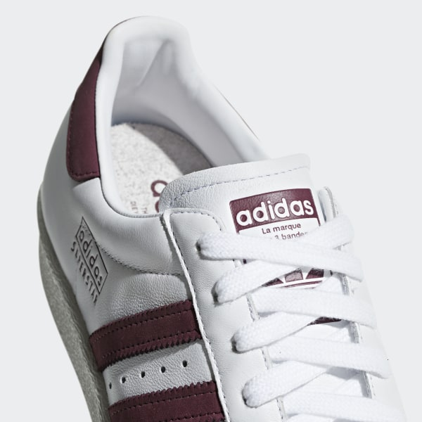 Superstar 80s Shoes ftwr white / maroon / crystal white CM8439