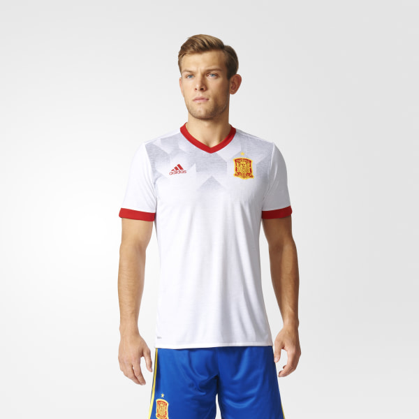 low cost b13e2 ea69d Spain Home Pre-Match Jersey White   Scarlet BP9196