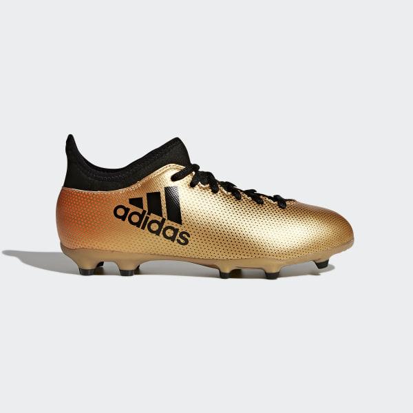 065908f2e2112 Zapatos de Fútbol X 17.3 Terreno Firme TACTILE GOLD MET. F17 CORE BLACK
