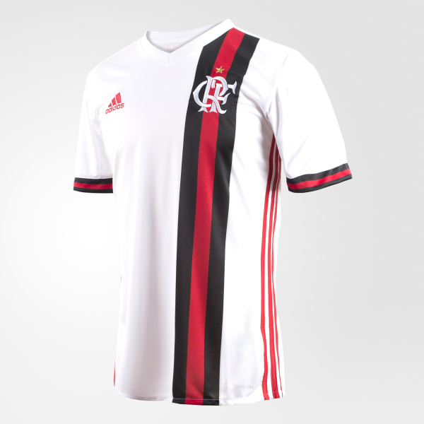 Camisa CR Flamengo 2 WHITE COLLEGIATE RED BK7106 08003b2945003
