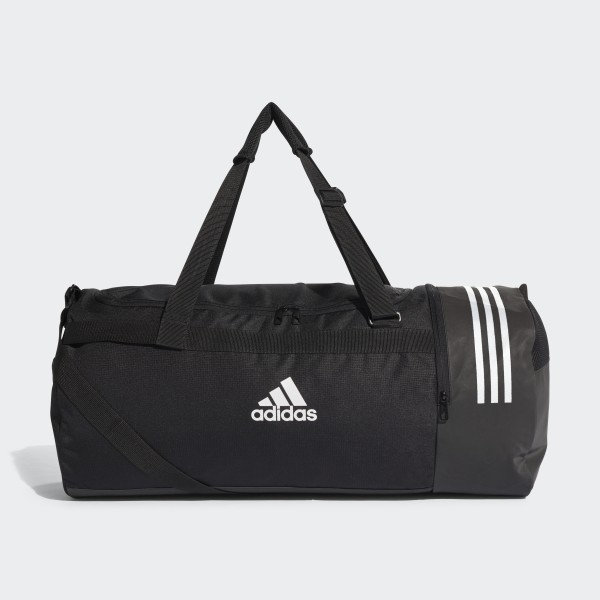 Convertible 3-Stripes Duffel Bag Large Black White White CG1534 61a36f778fd70