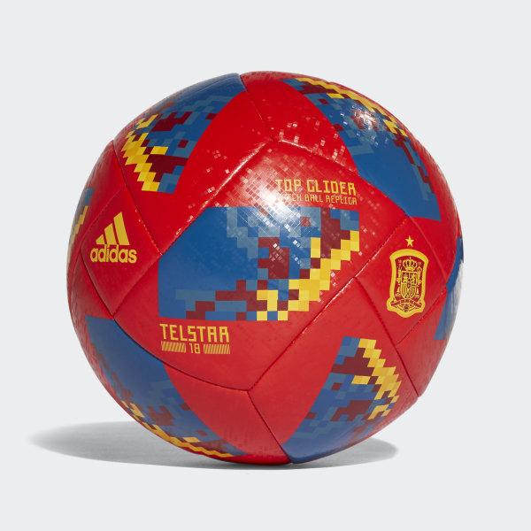 Balón Copa Mundial de la FIFA Selección de España 2018 RED COLLEGIATE GOLD  CE9973 2778c64da01