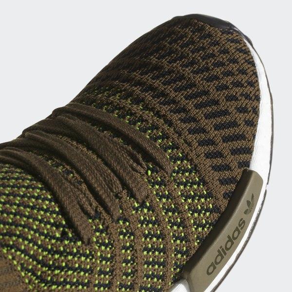 c2eb25dce7e3 NMD R1 STLT Primeknit Shoes Trace Olive Core Black Solar Slime CQ2389