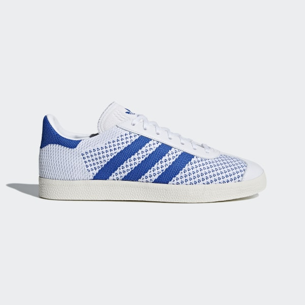 Gazelle Primeknit Shoes Hi-Res Blue Chalk White CQ2790 98a0fb382