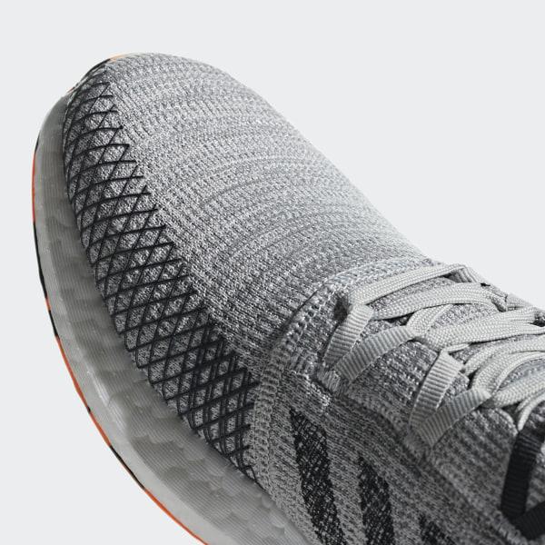 a8f1481425195 Pureboost Go Shoes Grey Two   Core Black   Hi-Res Orange AH2324