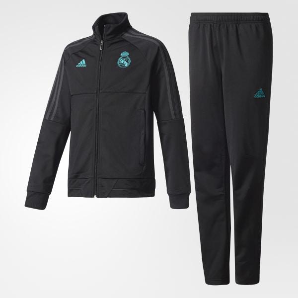 Conjunto Chaqueta y Pantalón Real Madrid BLACK SOLID GREY F11  BLACK BQ7865 a7d9ca1f29dd8