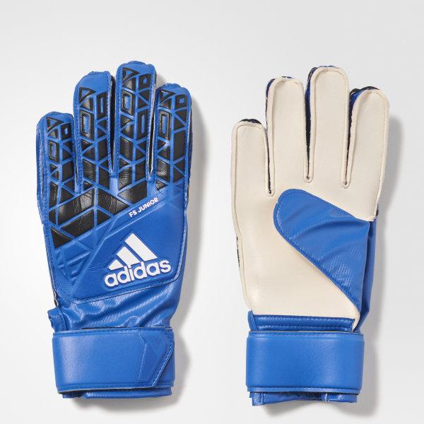 adidas Youth ACE Fingersave Goalkeeper Gloves - Blue  d7f1d0d19